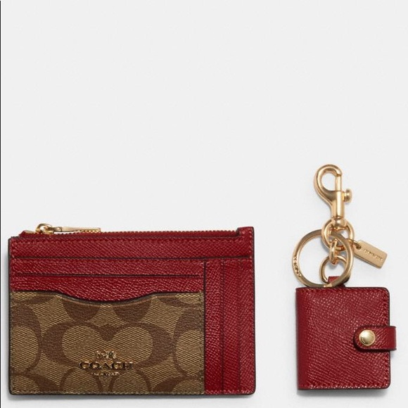 NWT Coach small card case with phone album